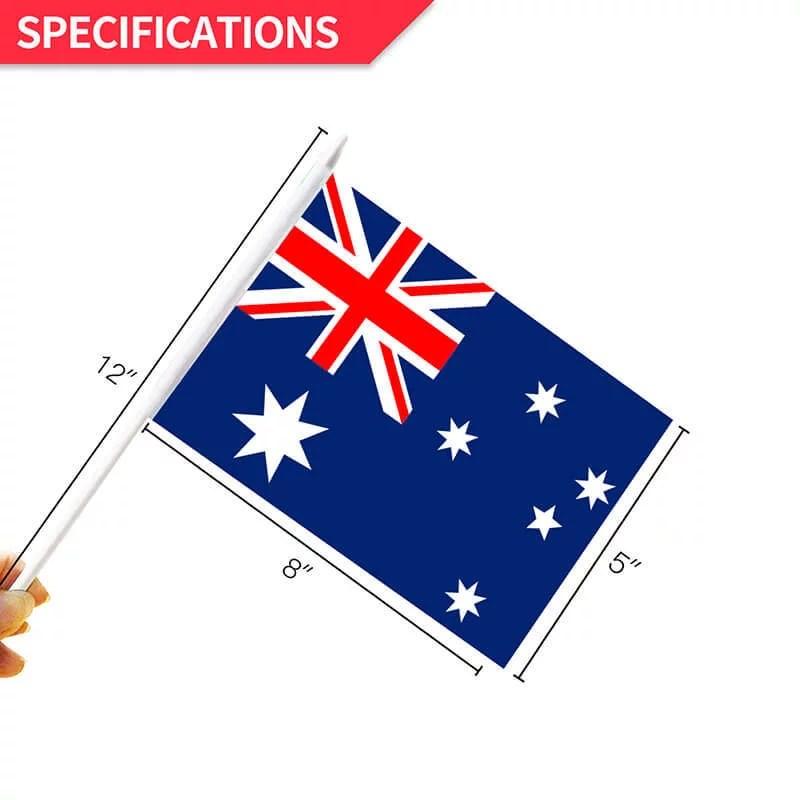 Australia Stick Flag size