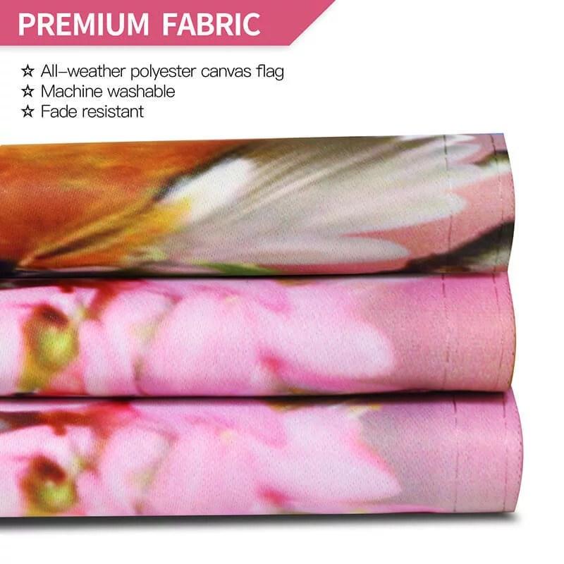 Flower bird garden flag fabric