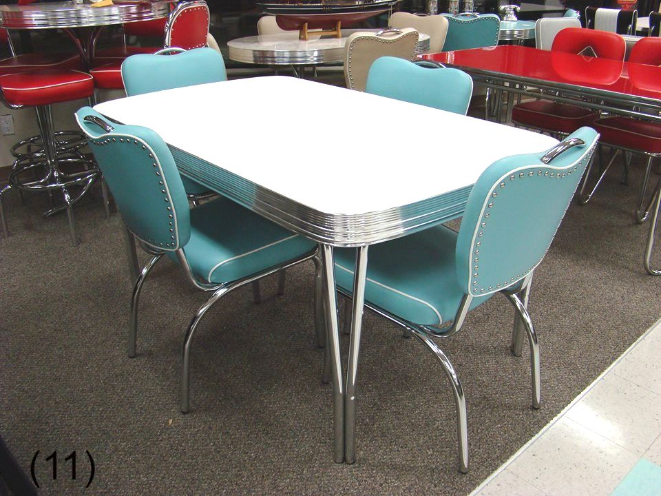 retro tables and chairs bentwood wholesale cool dinettes 1950 s style canadian made chrome sets accro rl19em white matte table w leaf 4 n52 aqua 36 x 48 60
