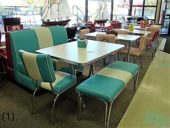 COOL Retro Dinettes  1950s Style  Canadian Made Chrome Sets