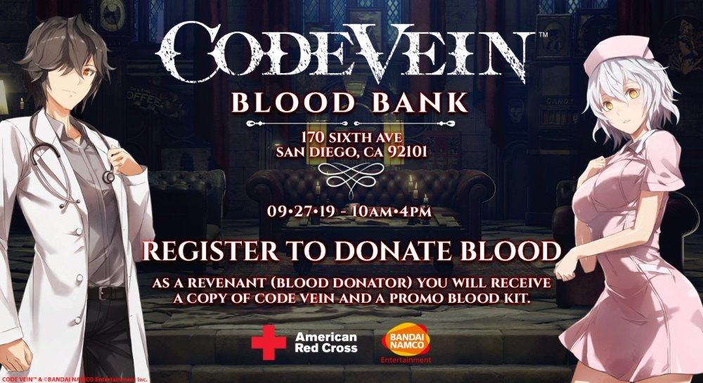 Podrás conseguir una copia gratis de Code Vein, si donas sangre