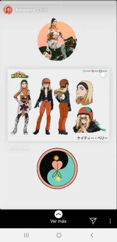 Katy Perry muestra su lado otaku y comparte un Fan Art de Boku no Hero Academia