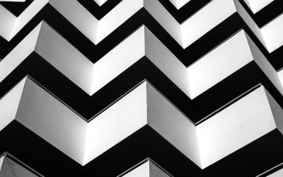 Architectural photography in black and white
