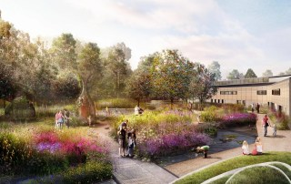 computer generated image of the new RHS Wisley Wildlife garden