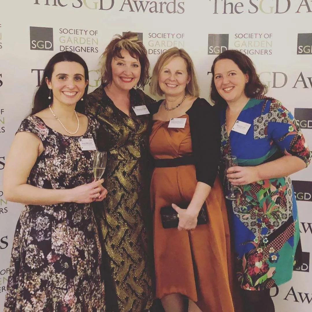 The Ann-Marie Powell Gardens studio team at the SGD awards