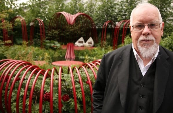 Collaboration between artist Peter Blake and garden designer Ann-Marie Powell at Chelsea Flower Show 2011