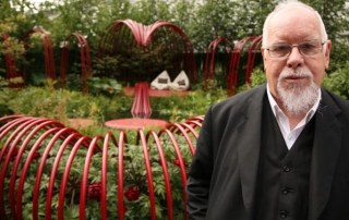 Collaboration between artist Peter Blake and garden designer Ann-Marie Powell at Chelsea Flower Show 2011