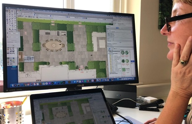 Masonry image layout as part of new garden design completed by Ann-Marie Powell