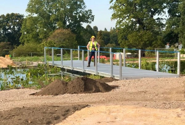 Ann-Marie Powell onsite at RHS Wisley Wildlife Garden