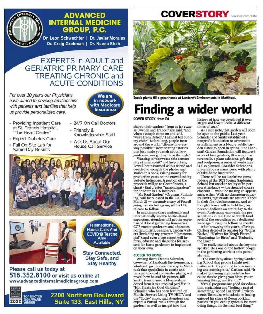 Suffolk County Gardening online in Newsday