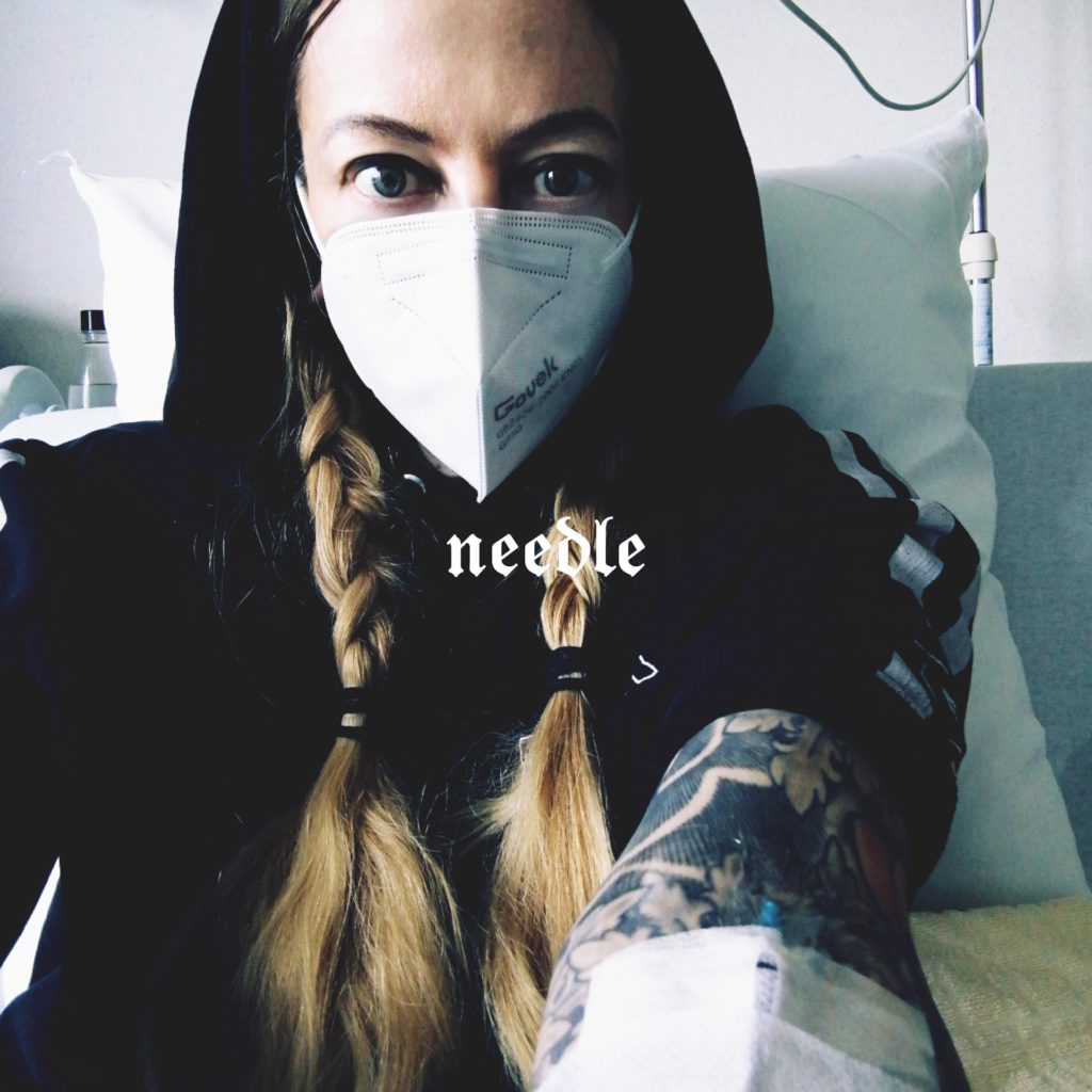 Needle in the tattoo