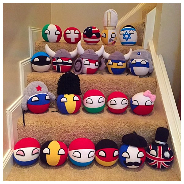 7 small countryballs – Handmade by Anna Fortune