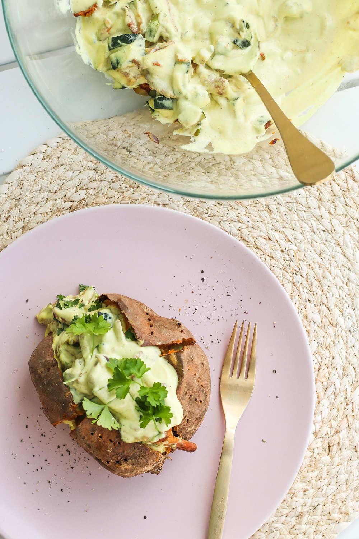 gefüllte Ofenkartoffel vegan