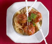 Turkey Meatballs & Spaghetti