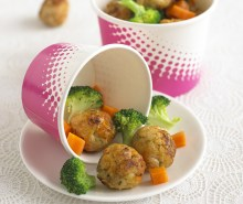 Mini Chicken Balls with Apple & Carrot