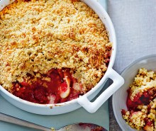 Peach, Raspberry & Apple Crumble