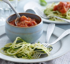 Spiralized Zucchini Spaghetti & Fresh Tomato Sauce Recipe