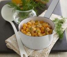 Butternut Squash, Salmon & Dill