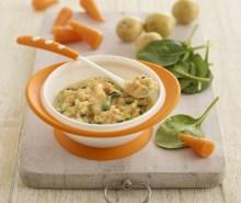 Spinach, Potato, Carrot & Cheddar Mash