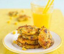Beignets van wortel, courgette en maïs