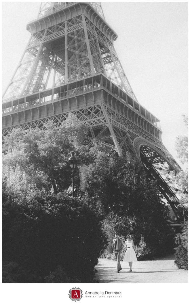 Vintage style image with the Eiffel Tower in the background