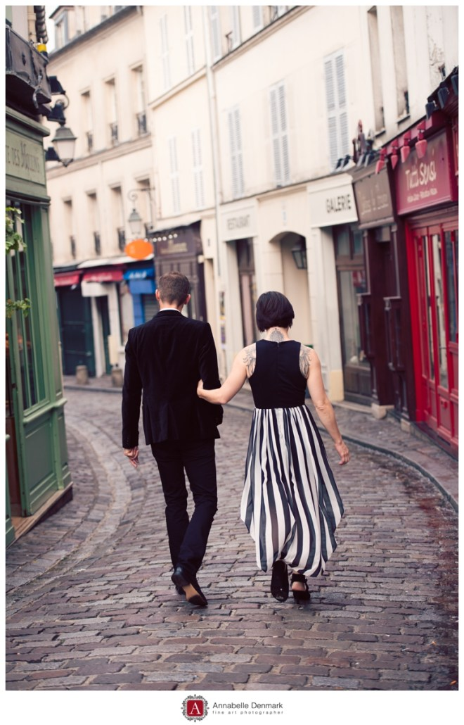 Fallon and Fleetwood, very chic in an empty Montmartre street