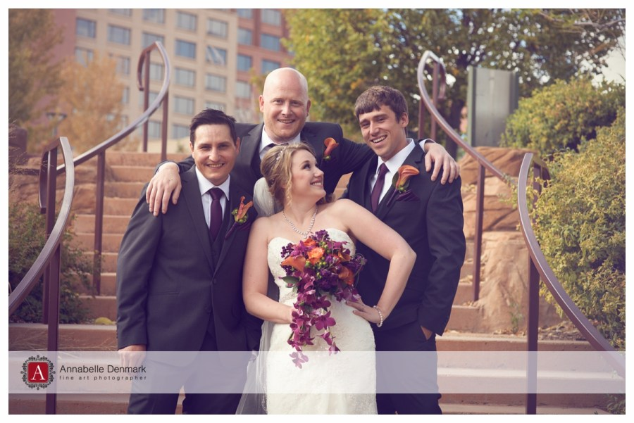 Megan and the groomsmen