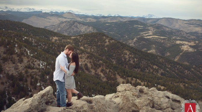 Engagement session in the Mountains