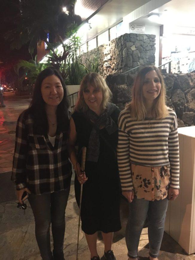 Bild från vänster: Jenny, jag och Laurie.