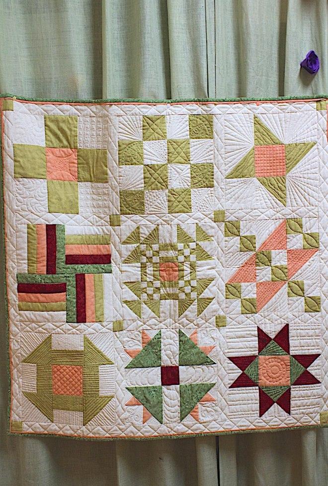 pannello riepilogativo delle tecniche base patchwork