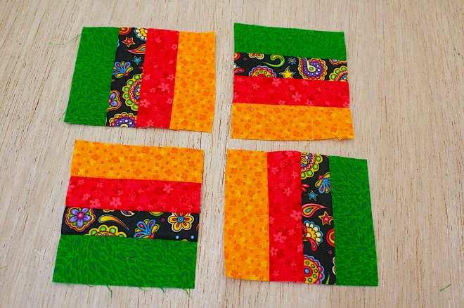 componete i quadrati per ottenere la sequenza cromatica preferita