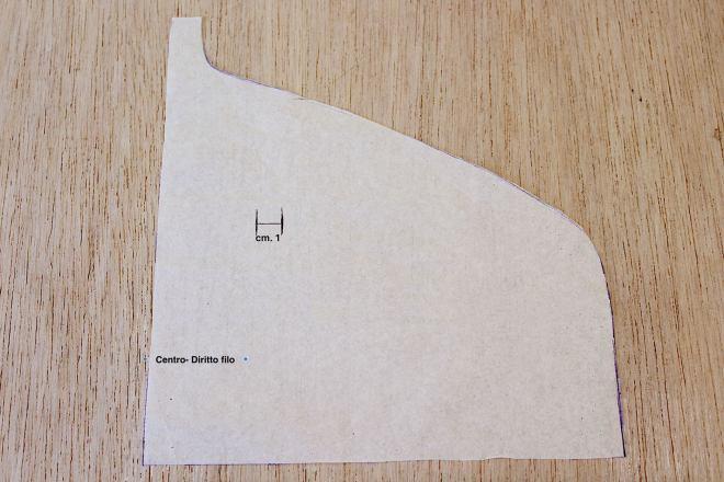 cartamodello della parte superiore