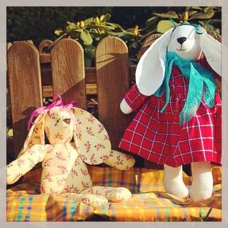 Coniglio e Coniglietta della stessa misura resi diversi dai dettagli