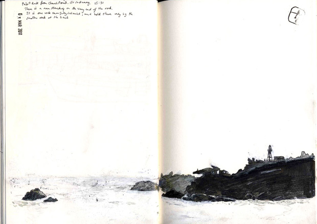 Drawing of Pulpit Rock.