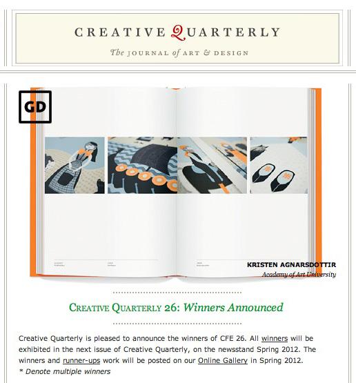 Screen shot from Creative Quarterly website.