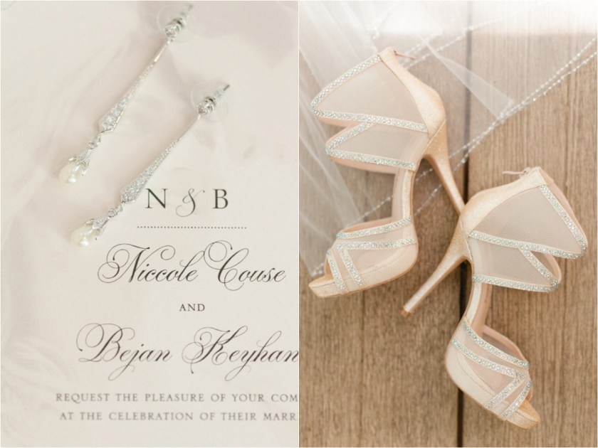 Wedding Day Details Like Earrings And Shoes