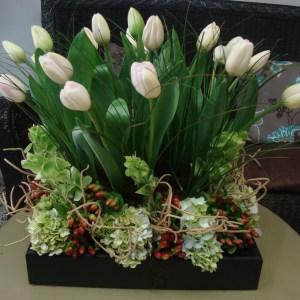Capricho en tulipanes rosa