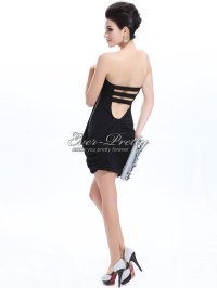 Little Black Backless Ruffle Bra Top Homecoming Party ...