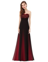Ever Pretty Strapless Red Long Evening Formal Prom Dresses ...
