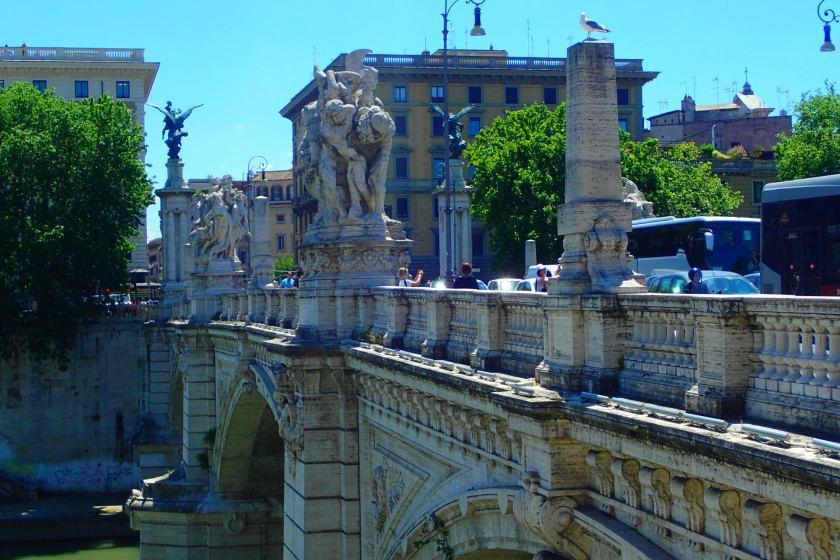 Nad Tybrem, obok Castel Sant` Angelo