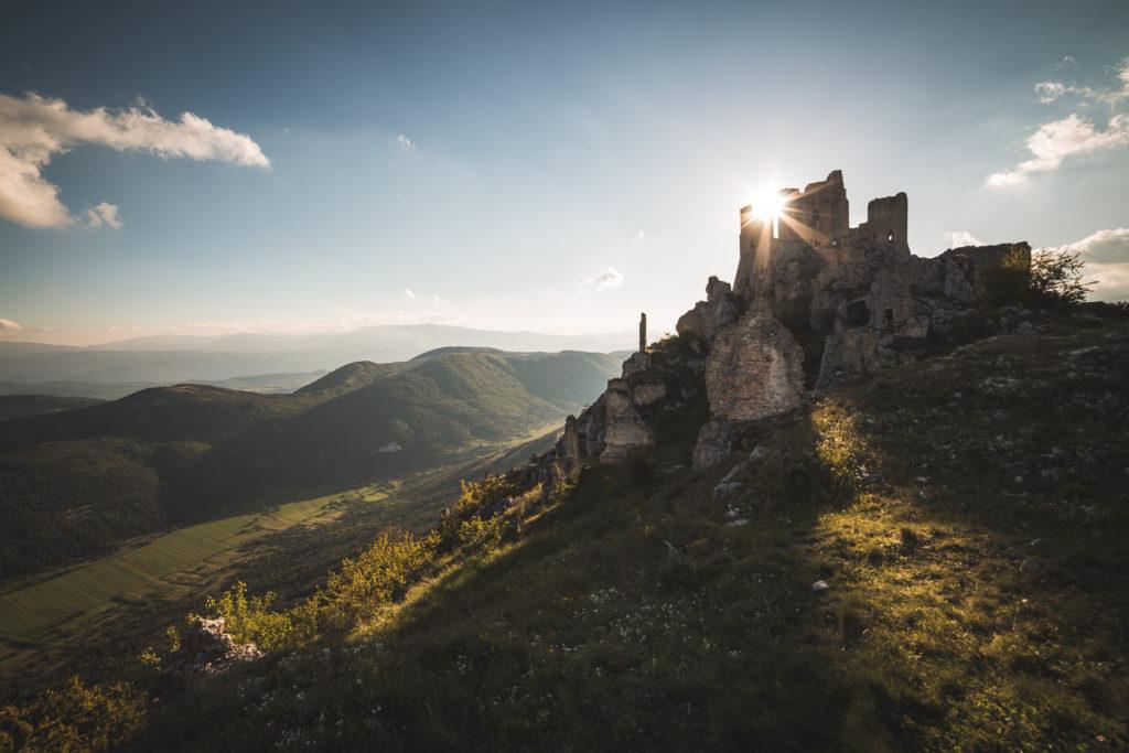 La rocca al tramonto