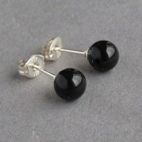 Black Pearl Stud Earrings - Anna King Jewellery