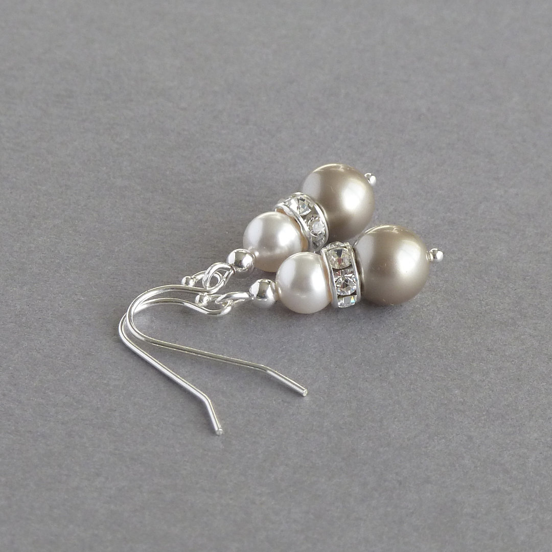 Champagne Pearl and Crystal Jewellery Set