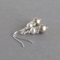 Champagne Pearl and Crystal Jewellery Set - Anna King ...