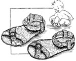 Booties, Sandals, Shoes and Slippers Baby Crochet Patterns