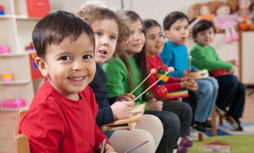 nella scuola materna cristiana
