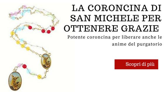 coroncina a San Michele Arcangelo