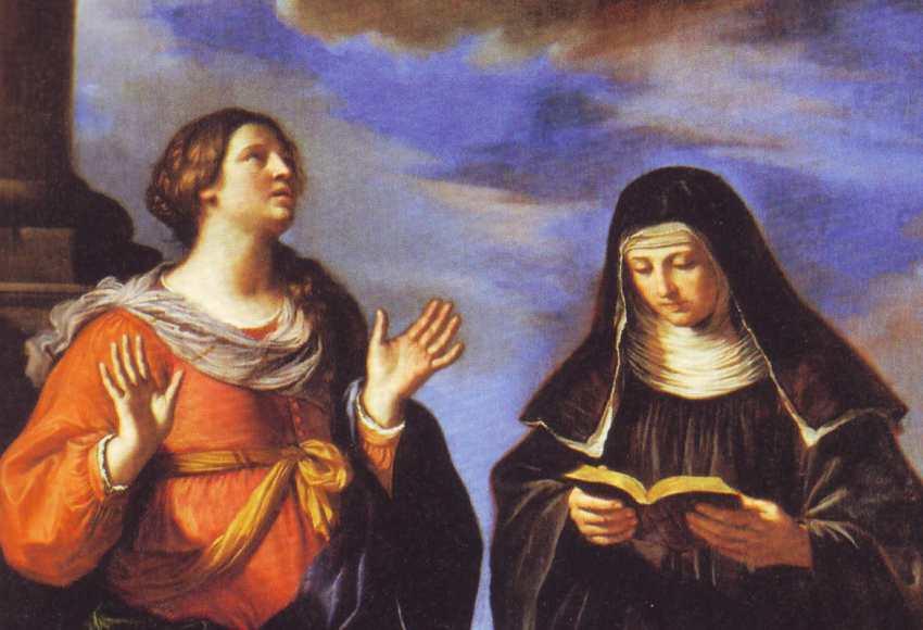 Santa Gertrude-visione di Gesù