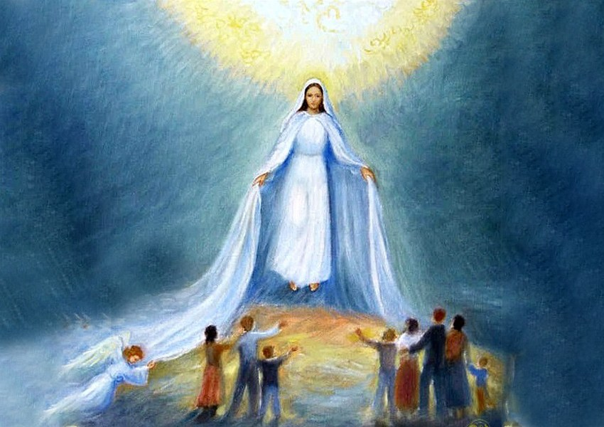Maria intercede per tutti noi peccatori