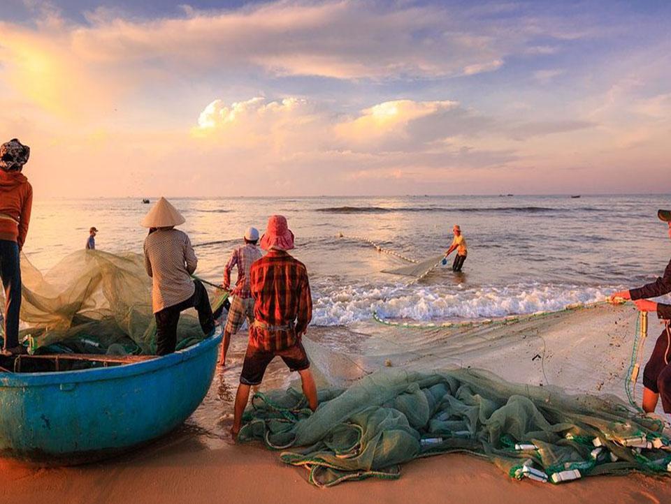 Lega con i pescatori